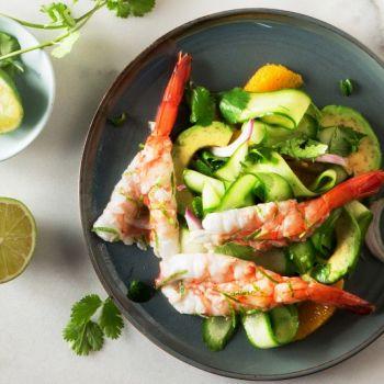 Μεξικάνικες γαρίδες με τσίλι και λάιμ