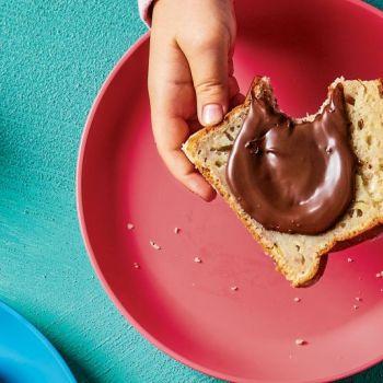 Μπανανόψωμο με σπιτικό άλειμμα σοκολάτας